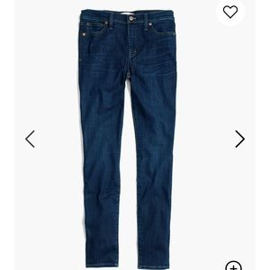 Madewell Skinny Jeans with Tencel, Larkspur Wash